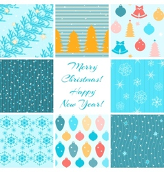 Christmas patterns collection vector