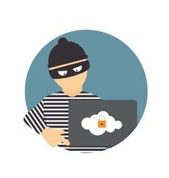 criminal hacker concept of fraud cyber crime vector image