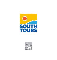 south tours logo tourism icon vector image