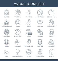 25 ball icons vector