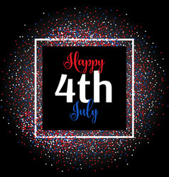 4th july confetti background vector image