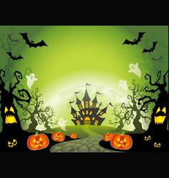a happy halloween landscape vector image vector image