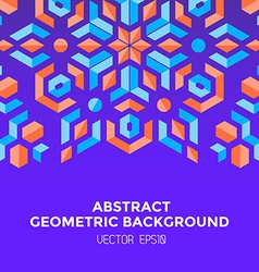 abstract geometric blue orange red jewels violet vector image