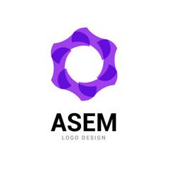 abstract logo circle icon technology logo design vector image