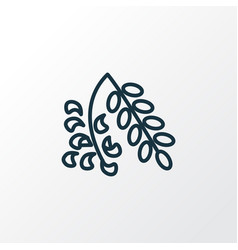 acacia flower icon line symbol premium quality vector image