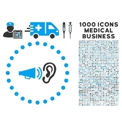 Advertisement Icon with 1000 Medical Business vector image