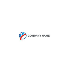 arrow graph business finance company logo vector image