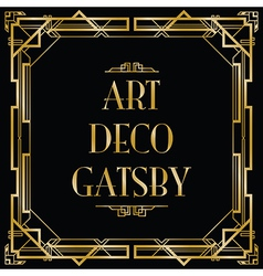 art deco gatsby square vector image
