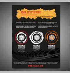 automotive tire leaflet vector image