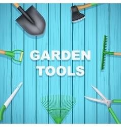 Background of Season Garden tools vector