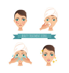 Beauty care acne treatment vector