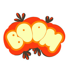 Boom explosion sound effect icon cartoon style vector