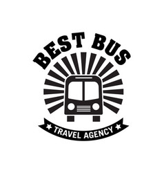 bus trip and trvel tour badge logo vector image