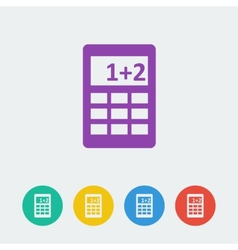 calcule flat circle icon vector image