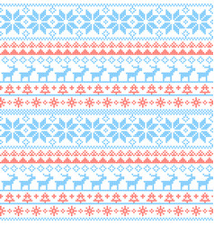 christmas seamless pattern nordic style vector image