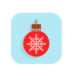 Christmas tree ball flat icon holiday symbol vector