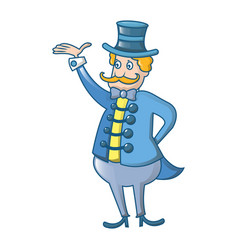 circus man icon cartoon style vector image