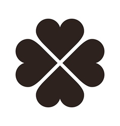 Clover with four leaves icon Saint Patrick symbol vector image
