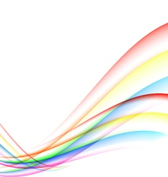 Colorful abstract wave vector image