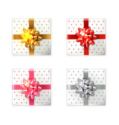 colorful gift box set realistic product vector image