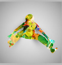 Colorful jumper vector