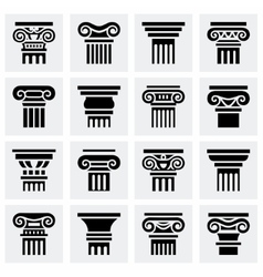 Column icon set vector