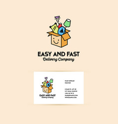 Company logo on the delivery and transportation vector