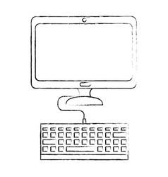 computer desk technology vector image