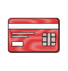 credit card bank vector image
