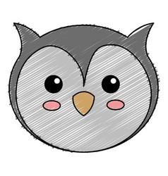 Cute and tender owl vector