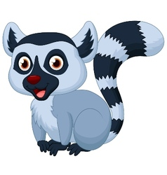Cute lemur cartoon vector image