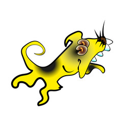 cute yellow dog 2018 cartoon character vector image