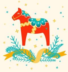 Dala horse vector