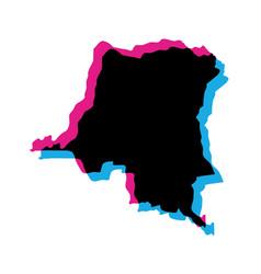 Democratic republic congo country vector