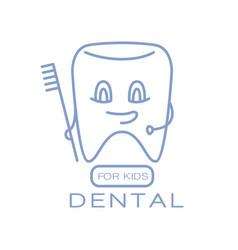 dental for kids logo symbol vector image