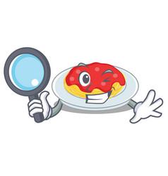 detective spaghetti character cartoon style vector image