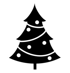 element silhouette single christmas tree vector image