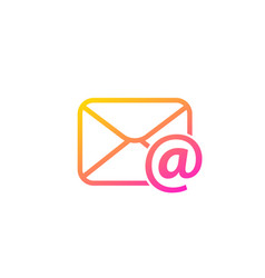Email mail trendy icon vector