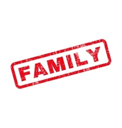 Family Text Rubber Stamp vector image