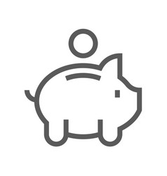 Finance and banking line icon vector