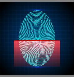 fingerprint scanner identification system vector image