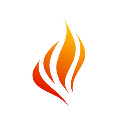 fire flame burn abstract logo vector image
