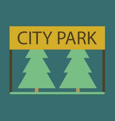 Flat icon city park vector