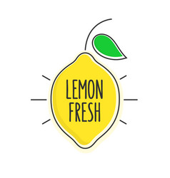 flat style minimal trendy lemon bubble price tag vector image