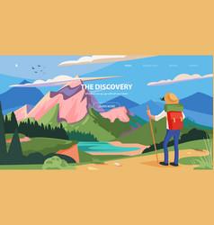 for tourism banner slider vector image