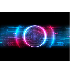 Futuristic pixel digital circuit background vector