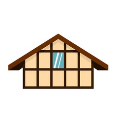 german house icon flat style vector image