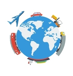 Globe Planet Logistic Concept vector
