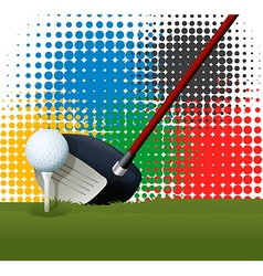 Golf club and golf ball vector
