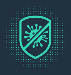 Green stop virus bacteria germs and microbe icon vector
